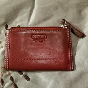 Coach Red Leather card case